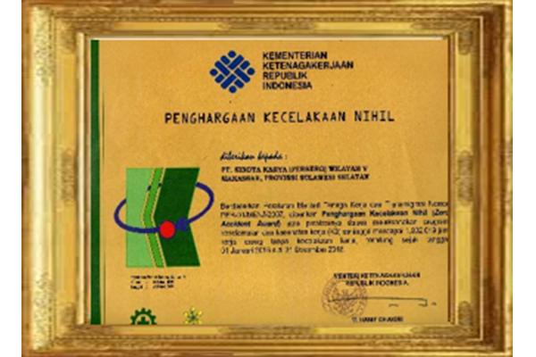 Penghargaan Kecelakaan Nihil (Zero Accident)