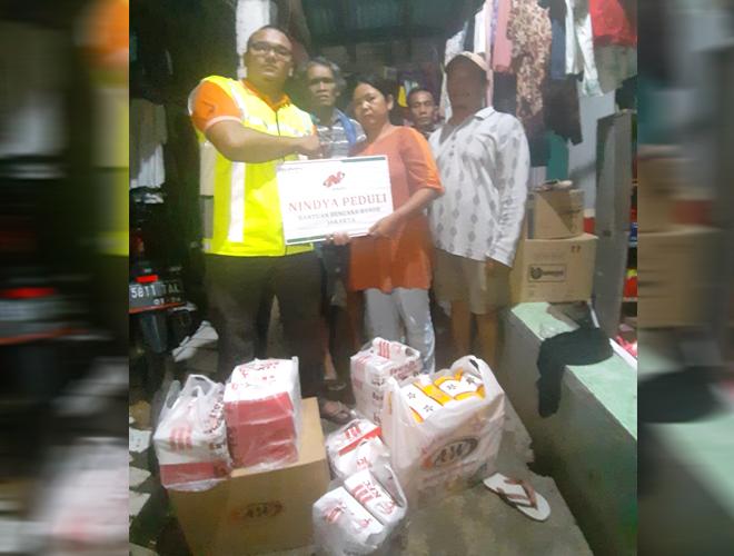 NINDYA Salurkan Bantuan Kepada Korban Banjir Jakarta